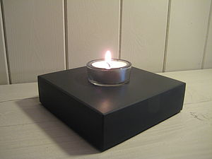 Welsh Slate Tea Light Holder - table decorations
