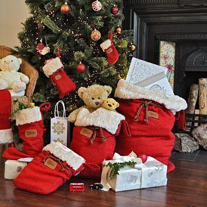 Christmas Sack - ribbon & wrap