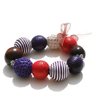 Red And Purple Chunky Textured Bracelet - bracelets & bangles