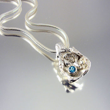 Handmade Gem Cave Silver And Gemstone Pendant
