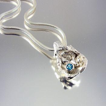 Handmade Gem Cave Silver And Gemstone Pendant