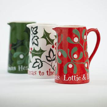 3 Christmas Farmhouse Jugs