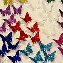 3D Glitter Butterfly Table Confetti