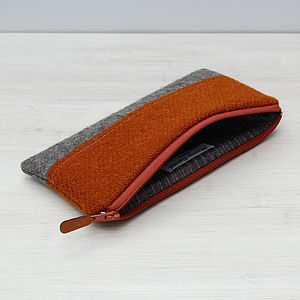 Colour Block Harris Tweed Pencil Case - shop by room