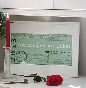 'You Are Just My Ticket' Print