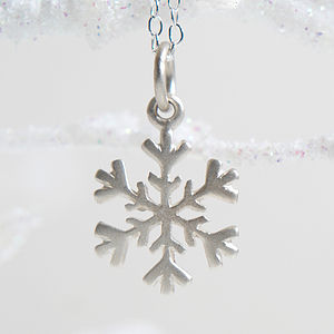 Personalised Silver Christmas Necklace - charm jewellery