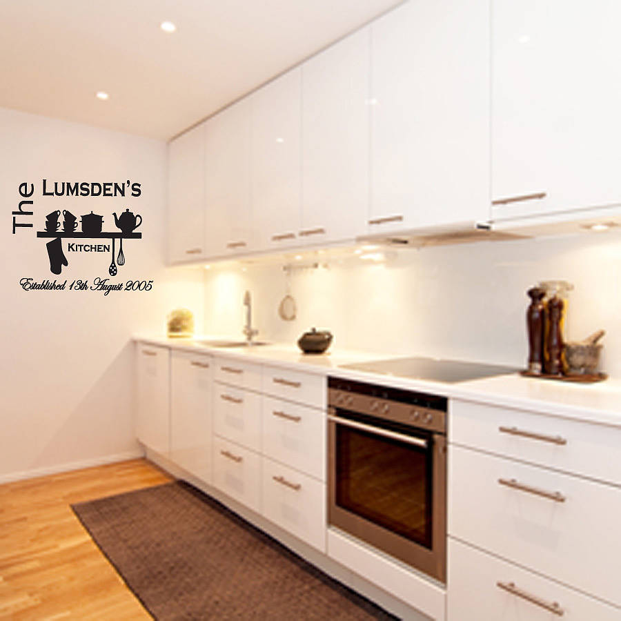 Kitchen Wall Personalised Kitchen Wall Sticker By Almo Wall Art