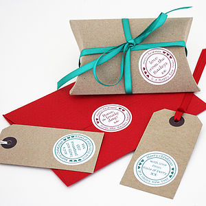 20 Personalised Christmas Stickers - wedding favours