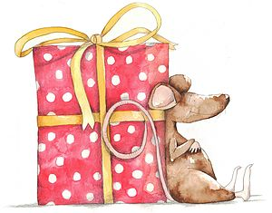 Brown Mouse Greetings Card