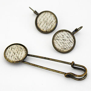 Vintage Style Earrings And Brooch Pin - women's jewellery