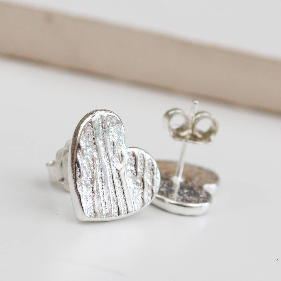 stud product moissani heart shaped earrings