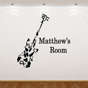 Personalised Musical Instrument Wall Sticker