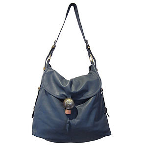 Emmeline: Adjustable Handle Leather Hobo - bags, purses & wallets