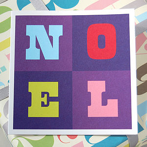 Pack Of Six Noel Christmas Cards - cards