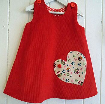 Girls Personalised Corduroy Pinafore Dress