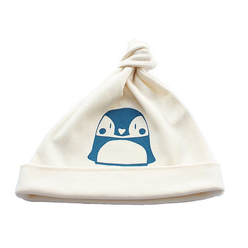 Penguin Organic Cotton Baby Hat
