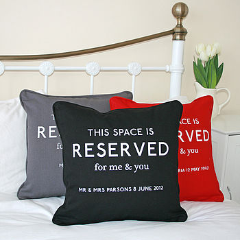 Personalised Couple's Reserved Cushion