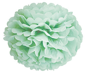 Decorative Paper Pom Pom - flowers & plants