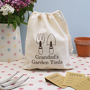 Personalised Garden Storage Bag - men's accessories