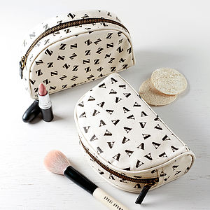 Initial Make Up Bag - gifts for her
