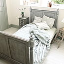 French Style Pitch Pine Three-Quarter Bed
