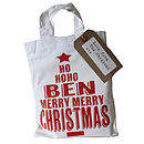 merry christmas custom bag