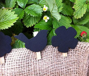 Set Of Mini Chalkboard Tags