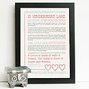Personalised History Of Your Home Sampler Style Print