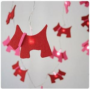 Child's Scottie Dog Fairy String Lights - children's room accessories