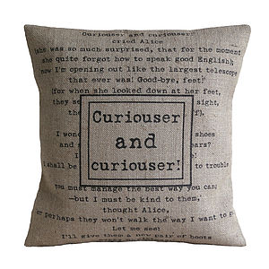 'Curiouser And Curiouser' Cushion - cushions