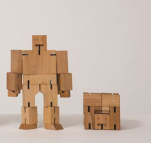 Cubebot Wooden Robot - gifts for geeks