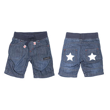 Children's denim skate shorts dark wash denim