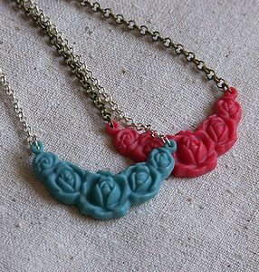 Rose Garland Necklace - necklaces & pendants
