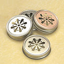 Daisy Glass Jar Lids