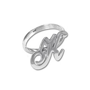 Personalised Sterling Silver Initial Ring - rings