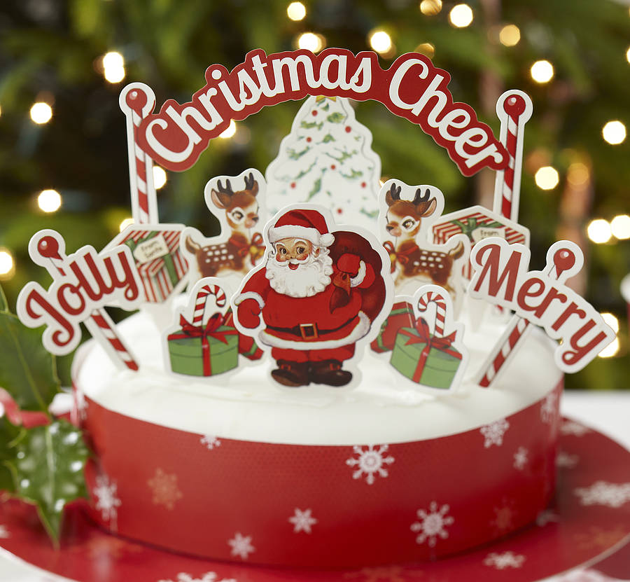 Christmas cake decoration kit by ginger ray for Decoration ideas for christmas cake