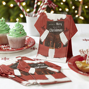 Father Christmas Vintage Style Napkins - christmas parties & entertaining sale