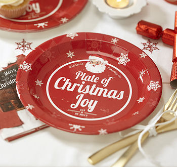 Vintage Style Christmas Paper Plates