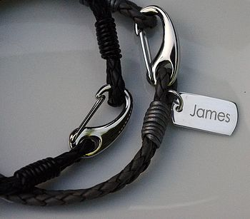 Men's Personalised Dog Tag Bracelet