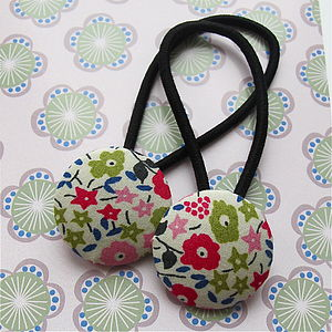 Set Of Two Handmade Fabric Hair Bands - hair clips & hair ties