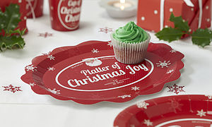 Christmas Paper Platters - christmas parties & entertaining