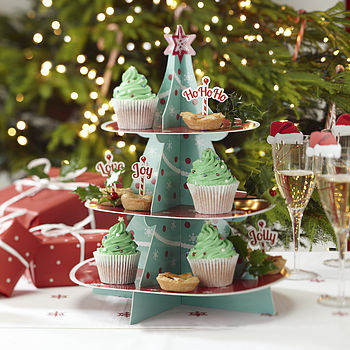 Christmas Tree Cupcake And Treats Stand
