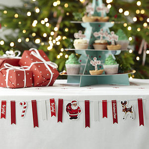 Christmas Vintage Style Mini Bunting - christmas parties