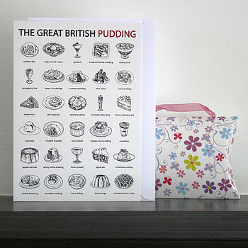 'The Great British Pudding' Greetings Card