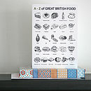 'A To Z Of Great British Food' Greetings Card