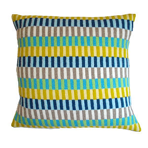 Summer Days Knitted Lambswool Cushion - bedroom