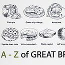 'A To Z Of Great British Food' Print