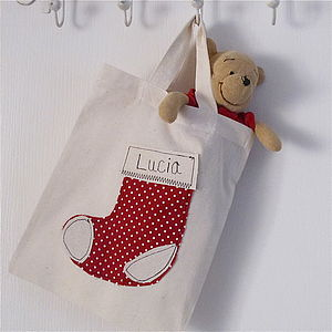 Personalised Christmas Stocking Gift Bag - personalised