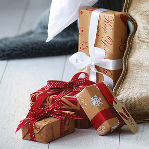 Recycled Brown Christmas Wrapping Paper - view all sale items