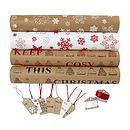 Recycled Brown Christmas Wrapping Paper